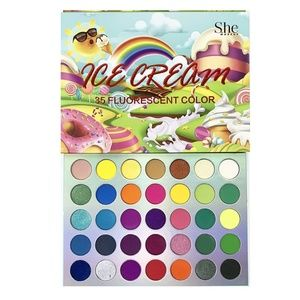 New Ice Cream 35 Fluorescent Shade Eyeshadow Palet